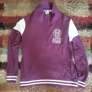 PINK 1/4 ZIP PULLOVER SIZE SMALL